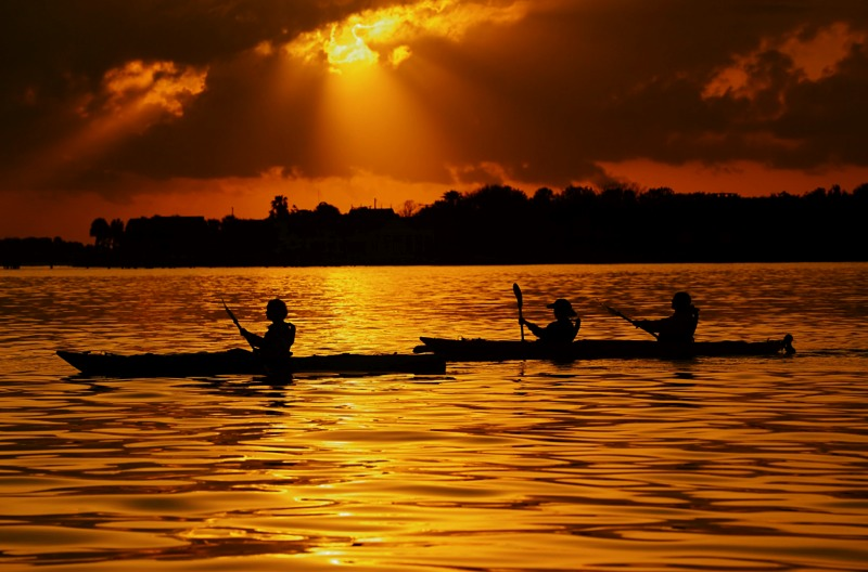 Beautiful kayak sunset tour with St. Augustine Eco Tours.