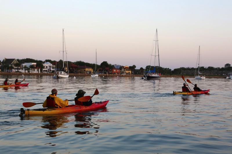 Early morning kayak tours are great anytime of year. St. Augustine Eco Tours