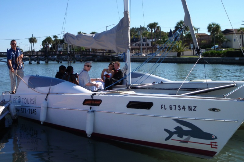 Sail with St. Augustine Eco Tours. Small groups are our specialty.