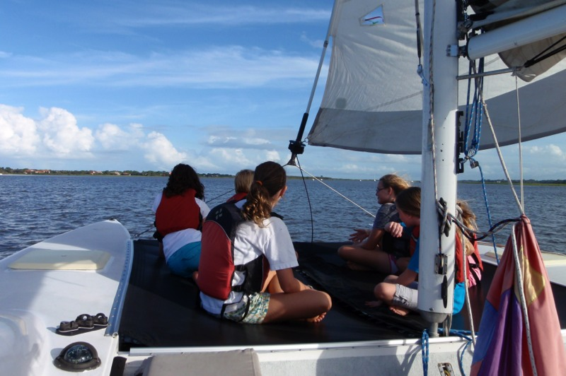 Sailing with friends and St. Augustine Eco Tours
